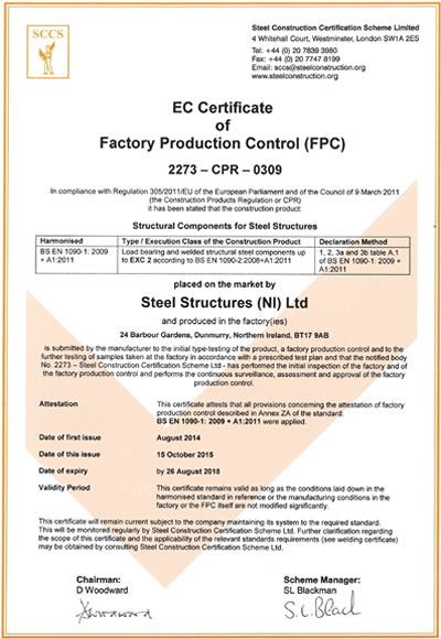 Factory Production Cert